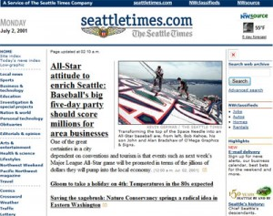 SeattleTimes.com old screenshot 2