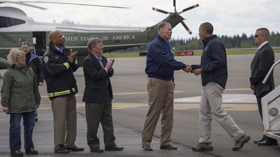 Obama OSO Landslide Visit
