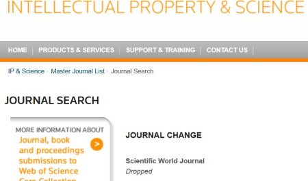 The Scientific World Journal Will Lose Its Impact Factor — Again